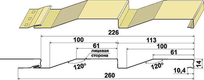 сайдинг размеры ширина длина панели