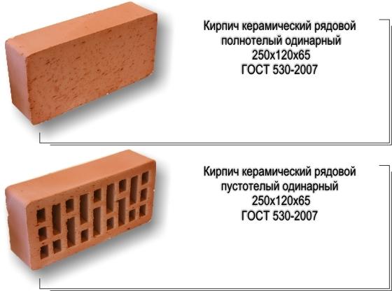 керамический красный кирпич